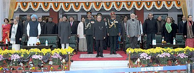 Narendra Modi, and other dignitaries, on the occasion of Army Day 2015.jpg