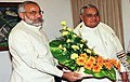 Narendra Modi and Prime Minister Atal Bihari Vajpayee in New Delhi in October 12, 2001.jpg