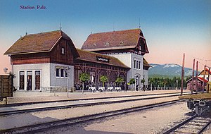 Pale, Bosnia and Herzegovina - Railway station in Pale after opening in 1906