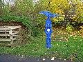 National Cycle Network Milepost at Newburn - geograph.org.uk - 1038623.jpg