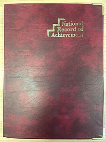 National record of achievement folder