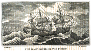 USS Wasp (1807) - Engraving by Abel Bowen