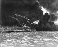 Naval photograph documenting the Japanese attack on Pearl Harbor, Hawaii which initiated US participation in World... - NARA - 295994.tif