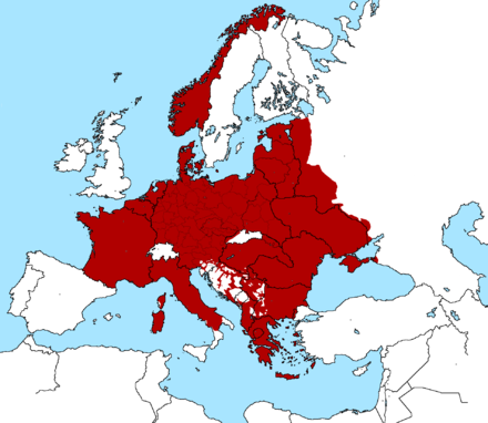 Nazi occupied Europe, September 1943 Nazi Occupied Europe September 1943 Map.png