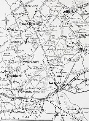 Battle of La Bassée - Neuve Chapelle to La Bassée area, 1914