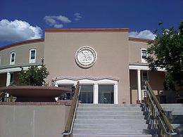 New Mexico State Capitol east entrance.jpg