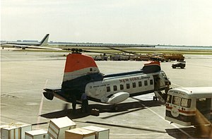 New York Airways - New York Airways BV-107 after landing at JFK airport