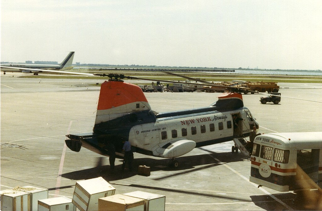 File:New York Airways helicopter at JFK airport after flying from ...
