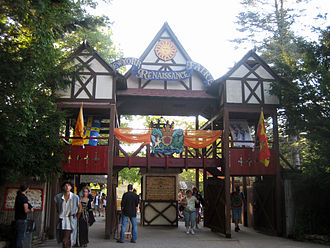 New York Renaissance Faire - Entry gate to the New York Renaissance Faire