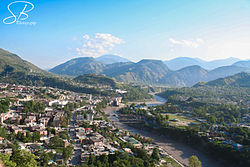 The city of Muzaffarabad, Azad Kashmir