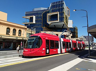Newcastle Light Rail - Urbos 3 Light Rail Set at Civic Station