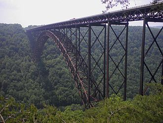 Southern West Virginia - The New River Gorge Bridge located in Fayette County. Completed in 1977, it is the third longest arch bridge in the world.