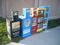 Newspaper vending machines in Canada - 20110803.jpg