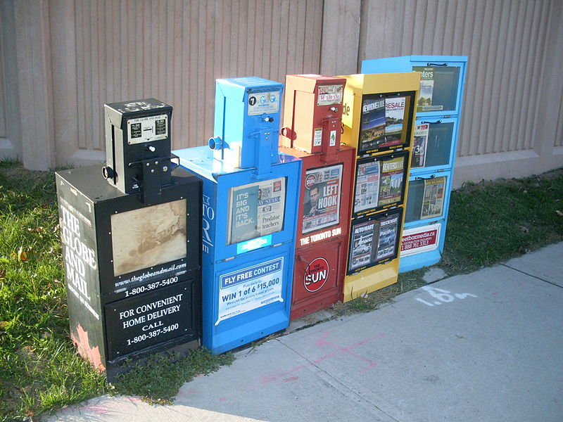 File:Newspaper vending machines in Canada - 20110803.jpg