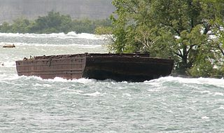 Shipwreck upstream of Niagara Falls