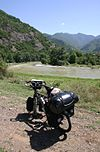 Nice cycling along the Mtkvari River, Western Georgia.jpg