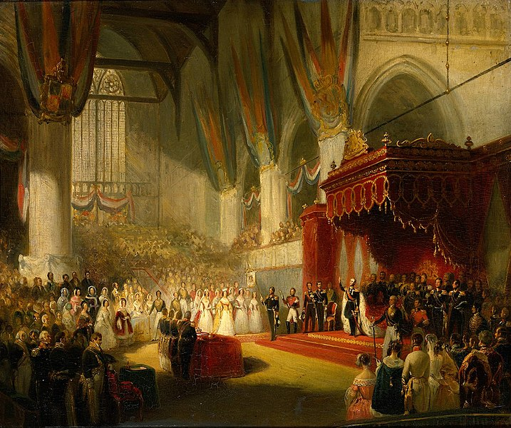 File:Nicolaas Pieneman - The Inauguration of King William II in the Nieuwe Kerk.jpg