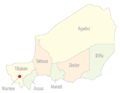 Niger departments named (colors).png