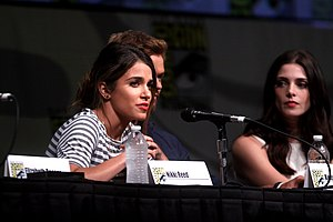 Nikki Reed - Reed, Kellan Lutz and Ashley Greene speaking at the 2012 Comic-Con in San Diego