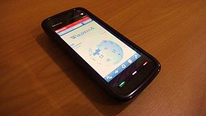 Opera Mobile - The Nokia 5800 XpressMusic, running Opera Mobile 10.1 Beta