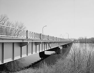 North Channel Bridge - North Channel Bridge, looking southeast from the north approach.