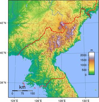 Geography of Korea - North Korea