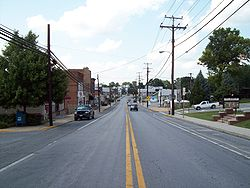 Northbound on Main St. Hampstead, Maryland