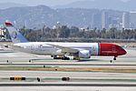 Norwegian Long Haul, Boeing 787-8 Dreamliner, EI-LNB - LAX (22558329066).jpg