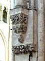 Noyon (60), cathédrale Notre-Dame, nef, doubleau vers la croisée du transept, cul-de-lampe côté su.jpg