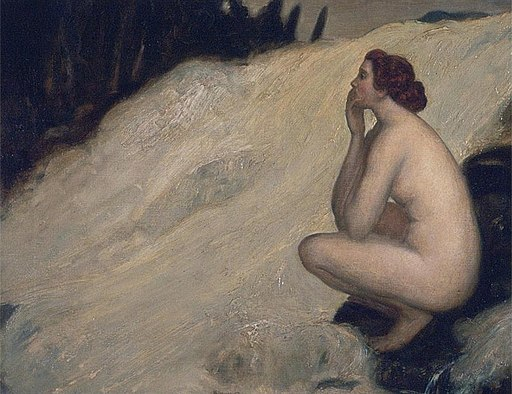 Nude by a Waterfall by Arthur Bowen Davies