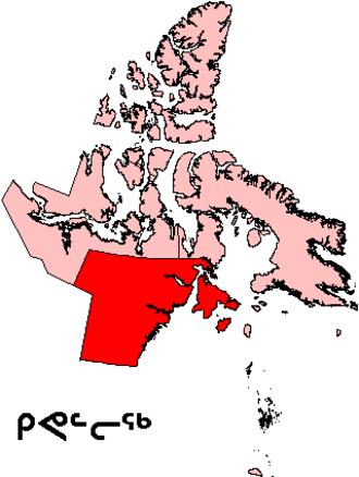 Kivalliq Region - The Kivalliq Region (in red)