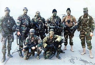 Special Forces (United States Army) - ODA 525 team picture taken shortly before infiltration in Iraq, February 1991
