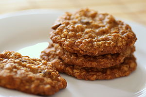 Oatmeal chocolate and butterscotch chip cookies.