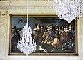 Oberschleißheim, Schloss Lustheim, Festsaal, Gemälde un Kronleuchter.JPG