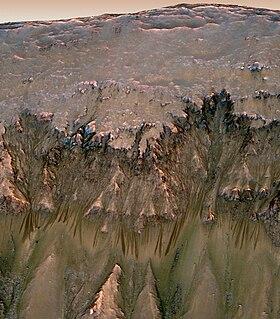 Seasonal flows on warm Martian slopes