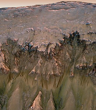 2010s - NASA announced that its Mars Reconnaissance Orbiter captured photographic evidence of possible liquid water on Mars on 5 August 2011.