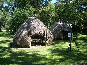 Northern Utina - Reconstruction of Timucua paha (house) at the Marion County Historical Museum (formerly East Hall)
