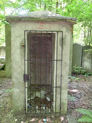 Radomsk (Hasidic dynasty) - Memorial to Rabbi Shlomo Chanoch Rabinowicz in the Warsaw Jewish cemetery.