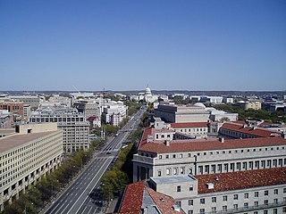 Pennsylvania Avenue Street in Washington, D.C., USA