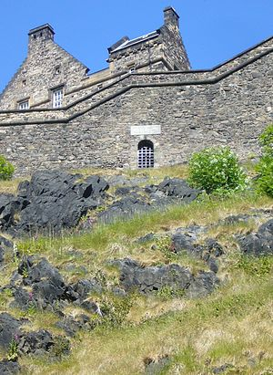 Sally port - The Old West Sally Port at Edinburgh Castle in Scotland