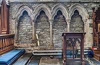 Oldleighlin St Lazerian's Cathedral Choir Sedilia 2017 09 10.jpg