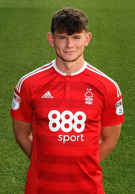 Burke in het tenue van Nottingham Forest, 2016