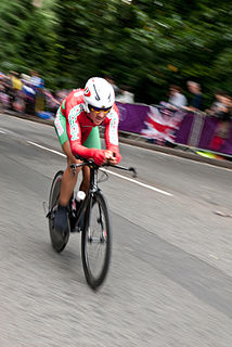 Moroccan racing cyclist