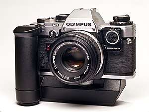 Olympus OM10 with winder and manual adapter.jpg