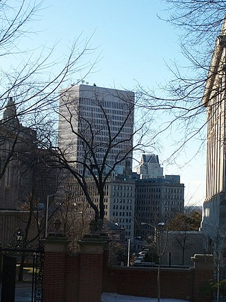 One Financial Plaza (Providence) - One Financial Plaza and the Providence skyline from Brown University
