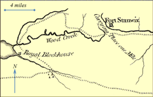 Oneida Carry - The carry as depicted on Thomas Kitchin's map of 1772