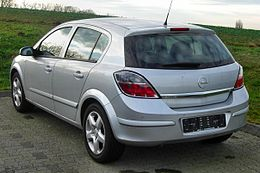 Opel Astra H (Facelift, 2007–2009) rear MJ.JPG