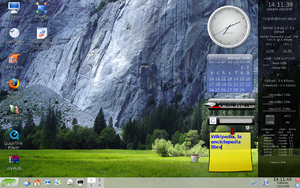 Screenlets - Image: Open SUSE 10.3 Screenlets