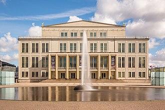 Leipzig Opera - Frontage of Leipzig Opera building.