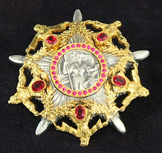 Order of the Hero of Socialist Labour - Order of the Hero of Socialist labour badge and ribbon bar